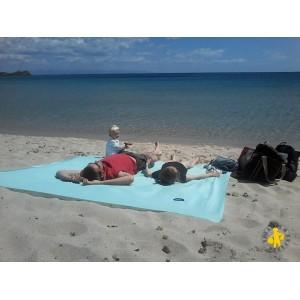 Drap de plage Obaba XXL+ format famille avec piquetas