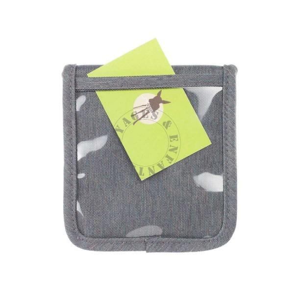 pochette porte monnaie grise pour enfant lassig. Black Bedroom Furniture Sets. Home Design Ideas