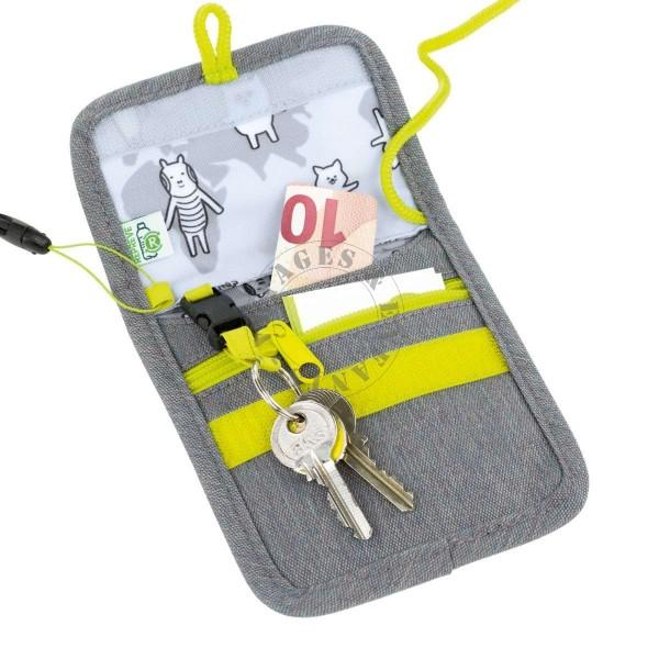 design de qualité 0a26a 24dfa Pochette porte monnaie grise pour enfant Lassig