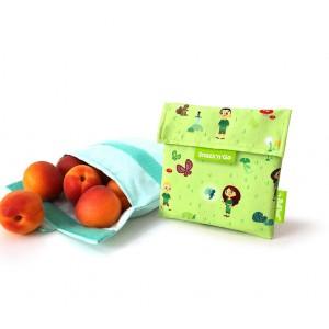 Pochette alimentaire réutilisable Snack'n Go enfant Roll eat