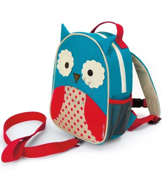 Mini sac à dos Zoo Hibou de Skip Hop avec laisse